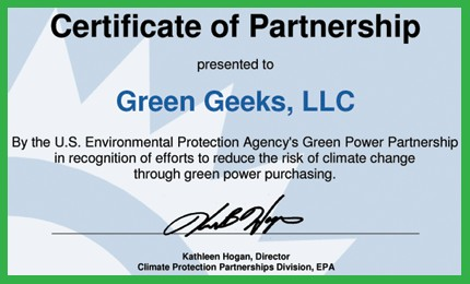 GreenGeeks EPA Partnership GreenGeeks Black Friday Deal 2020 - Get 75% OFF Cyber Monday Discount