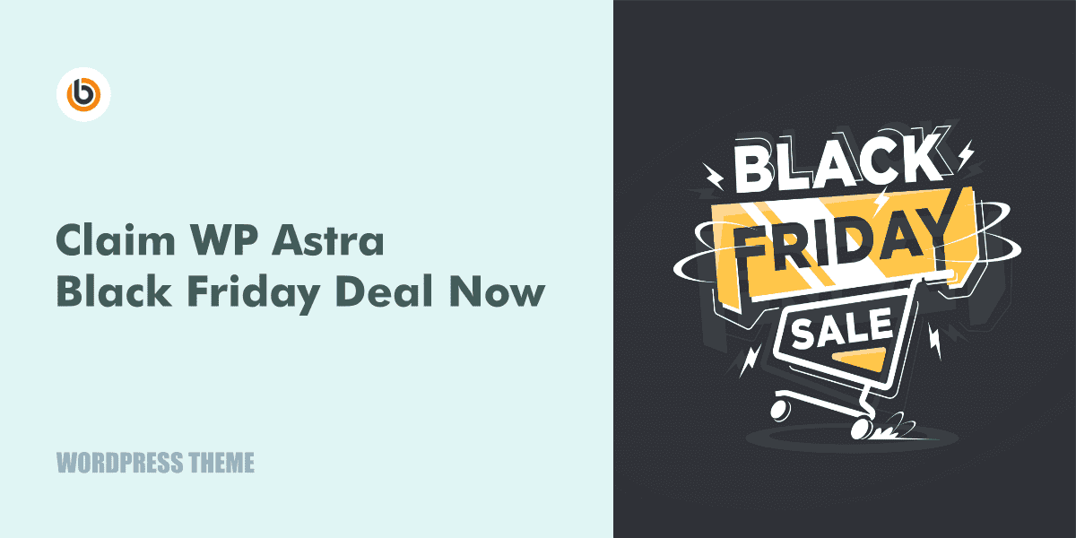 Astra Theme Black Friday Deal