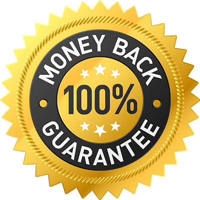 money back guarantee label Home